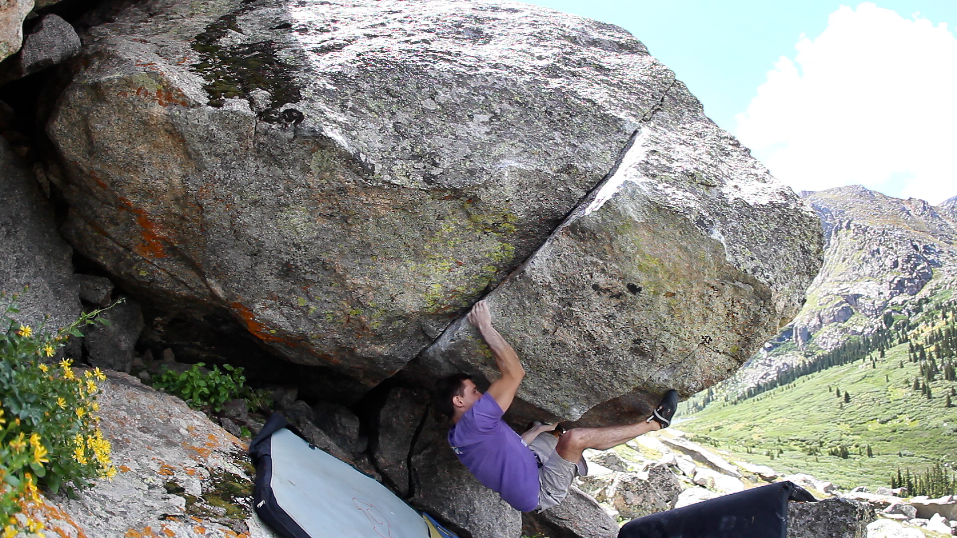 """Ivelin Penchev Mt Evans FA of """"The Reverse"""" V9"""