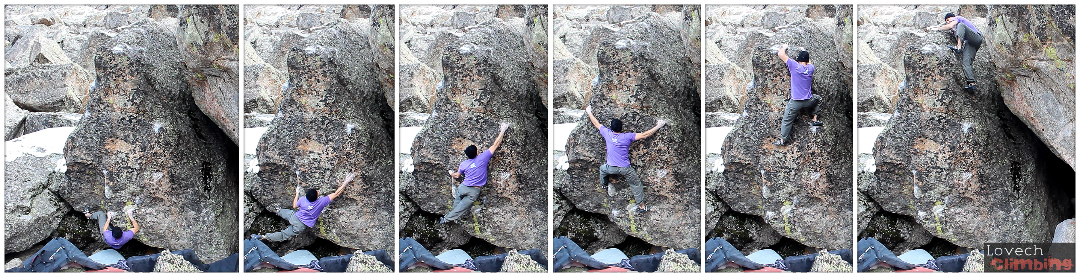 "Ivelin Penchev on ""Stingray"" V10 FA Area B Mt Evans 2014"