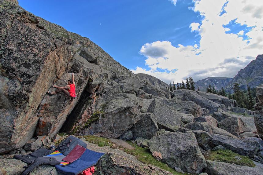 Alpine bouldering at Area B in Colorado – 2014 season