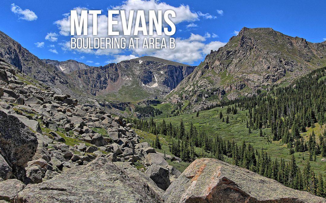 Mt Evans – Bouldering at Area B